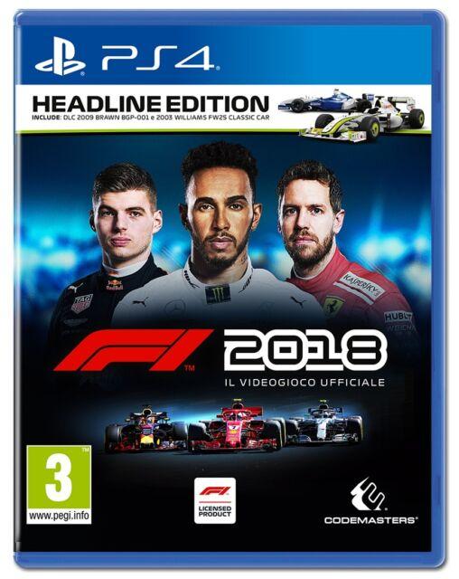 VIDEOGIOCO F1 2018 HEADLINE EDITION PS4 GIOCO ITALIANO FORMULA 1 PLAY STATION 4