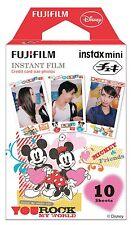 10 Fuji Instax Mini 8 Film Mickey & Minnie Disney for Mini 7 / 50s / Mini 90/ 50