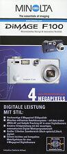 Prospekt Minolta Dimage F100 5/02 2002 Folder Digitalkamera Kamera Broschüre