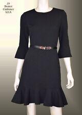 IVANKA TRUMP Women Dress Size 8 BLACK Above Knee CREPE 3/4 Sleeves Dressy LBC