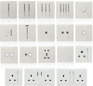 Trendi-Switch-White-Designer-Lightswitches-Plug-Sockets-Fused-Spurs-TV-Phone