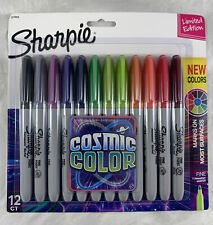 Sharpie Cosmic Color Permanent Markers Fine Point Limited Edition 12 Ct New