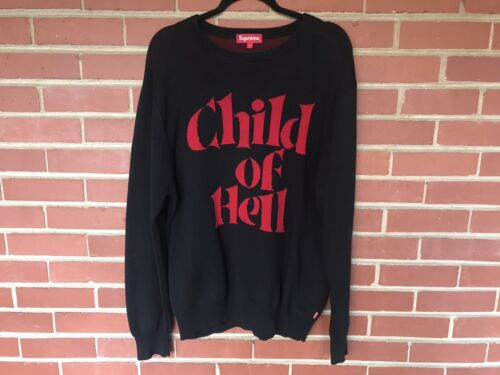 RARE Supreme FW 2015 Child of Hell Sweater Black R