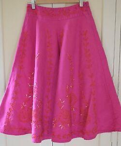 New-Lovely-Monsoon-Delphi-Pink-50s-Wedding-Embellished-Full-skirt-Size-14