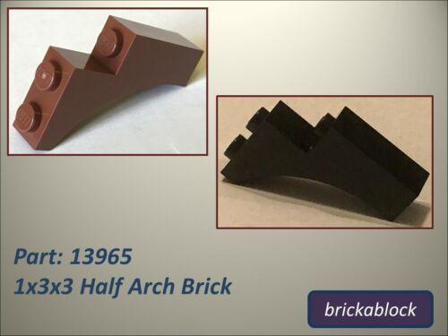 NEW Lego Part 13965 1x3x3 Half Arch Brick Choose 2-20 *ALL COLOURS SAME PRICE*