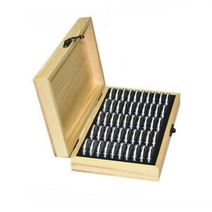 Wood-Coins-Display-Storage-Box-Collectible-Case-for-Certified-Coin-50-Capsules