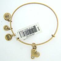 Alex And Ani Cupid's Heart Charm Bangle With Gold Finish 22