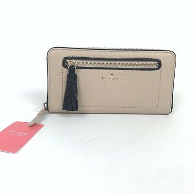 NWT Kate Spade Neda Chester Street Wallet with Tassel WLRU2654 Black Almond