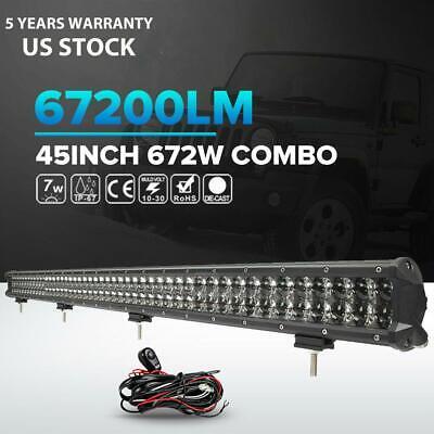 "3D 20/""inch 294W LED LIGHT BAR SPOT FLOOD Offroad DRIVING LAMP 4WD ATV UTE 22/"""
