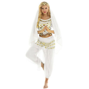 Women-039-s-Halloween-Belly-Dance-Costumes-India-Dance-Outfit-Sets-Carnival-Costume