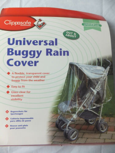 NEW CLIPPASAFE UNIVERSAL BUGGY RAIN COVER BNIP