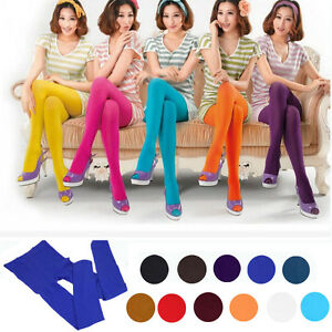Fashion Women Thick Tights Stockings Pantyhose Footed Socks Opaque Solid color