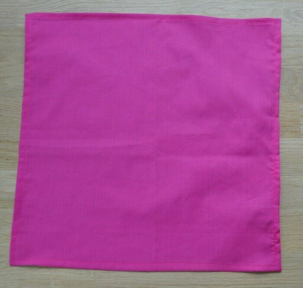 Liberty Tana lawn handkerchief hankie pocket square bright pink