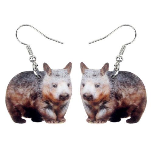 Acrylic Australian Wombat Earring Dangle Drop Animal Jewelry For Women Kid Charm