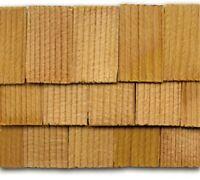 Dollhouse Roofing Hand Split Cedar Square Shingles 300 Pcs 1 Scale Cla70256