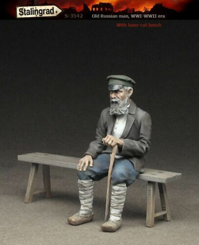 1//35 WWI WWII Old Russian Man Model Figure High Quality Resin Kit 1 figure