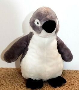 Fiesta Large Penguin Plush Stuffed Animal White Gray 16 Ebay