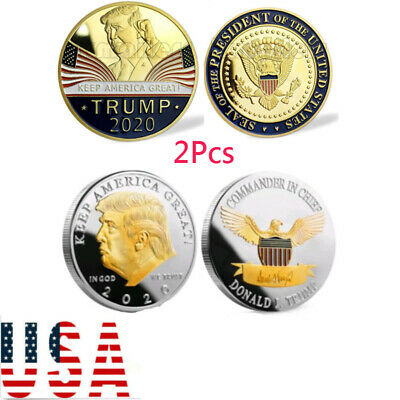 10 2018 President Donald Trump 24k Gold Plated EAGLE Commemorative Coin US