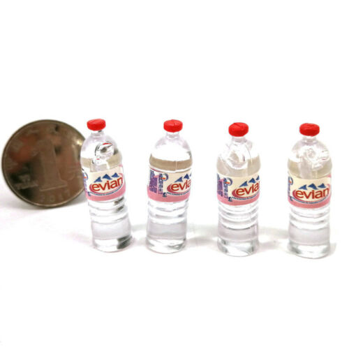 1:12 4Pcs dollhouse water bottle miniature toy doll food kitchen parts JB