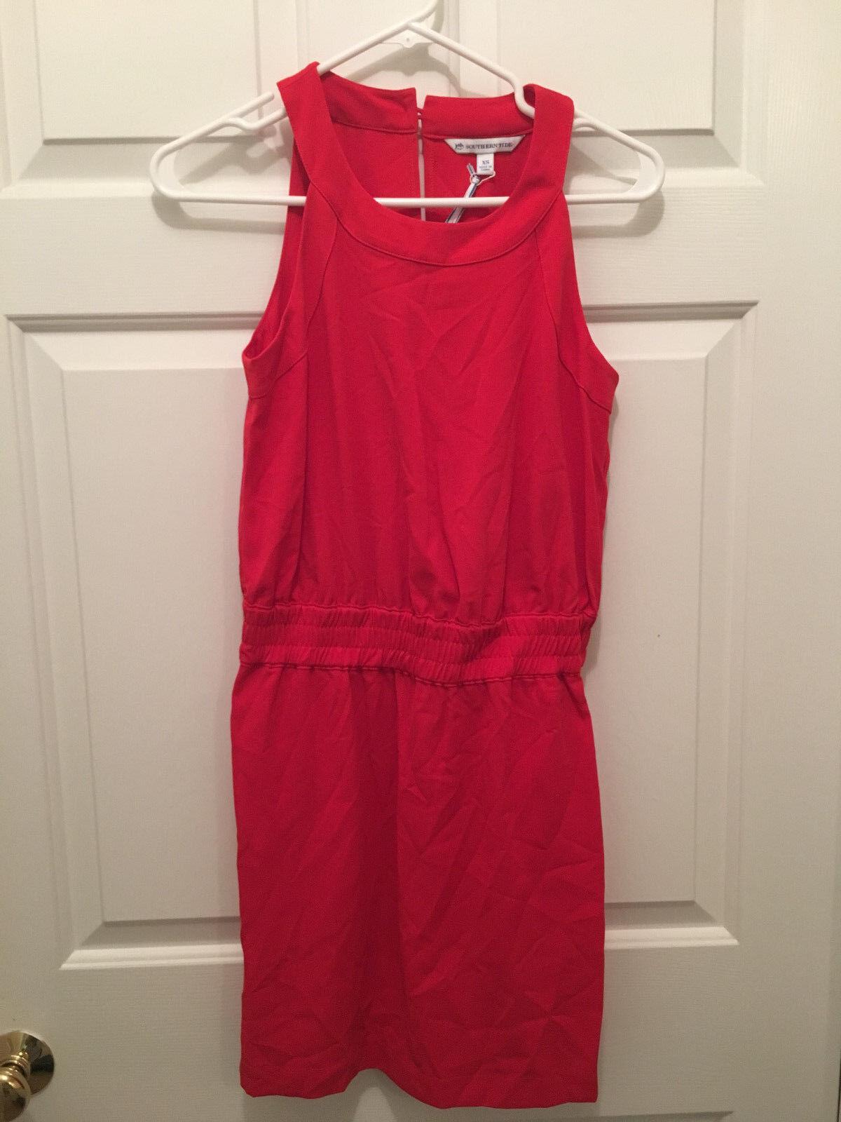 NWT Southern Tide Woherren King Street Varsity rot Sleeveless Dress Large