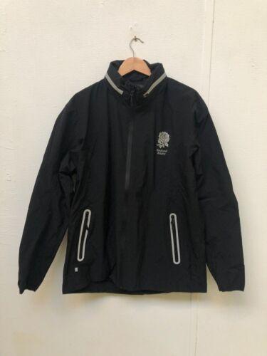 New XL England Rugby Men/'s Waterproof Training Jacket Black