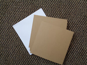 CRAFTSTYLE-5-X-KRAFT-BROWN-SQUARE-CARDS-and-WHITE-8x8-ENVELOPES