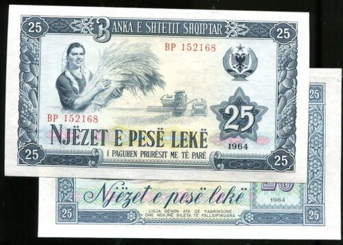 Albania   P37a 1964 UNC p 37 a  25 LEK