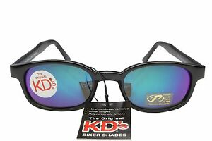 KD's Sunglasses Original Biker Shades Motorcycle Purple Blue Mirror 20118