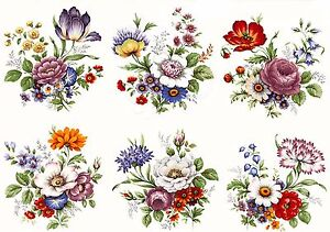 6-Traditional-Wildflower-Flower-Select-A-Size-Waterslide-Ceramic-Decals-Bx