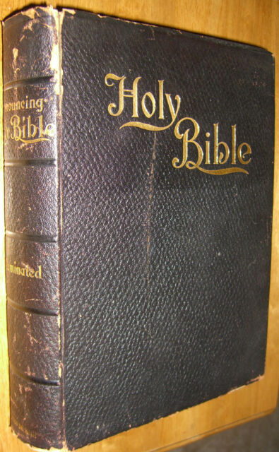 Holy Bible Self Pronouncing De Luxe Edition 800 Original Illustrations 1897