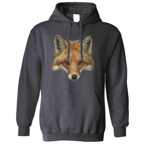 Animal Art Hoodie Low Poly Fox Graphic Wildlife Predator City Sly Cute