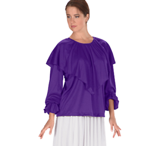Lot of 4 Euredard Praisewear Tops- 13736 Purple
