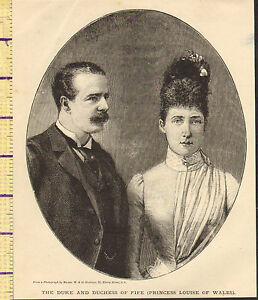 C1860-Vittoriano-Stampa-Duca-e-Duchessa-Di-Fife-Principessa-Louise-Di-Galles