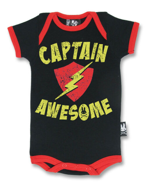 BABY ROMPER ROCKABILLY GIFT BABY SHOWER SIX BUNNIES CAPTAIN AWESOME TATTOO CUTE