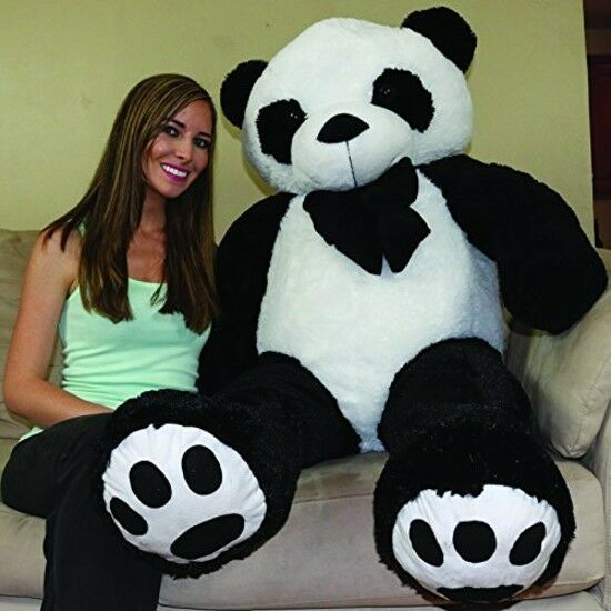 Big 5 Feet Tall Valentine's Birthday Gift Hude Stuffed Animal Teddy Bear Panda