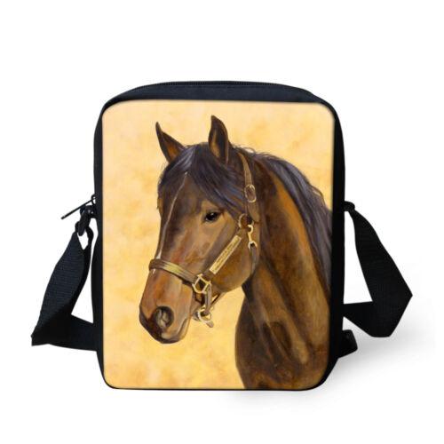 Animal Horse Bags Small Messenger Shoulder Bag Casual Cross Body Satchel Purse