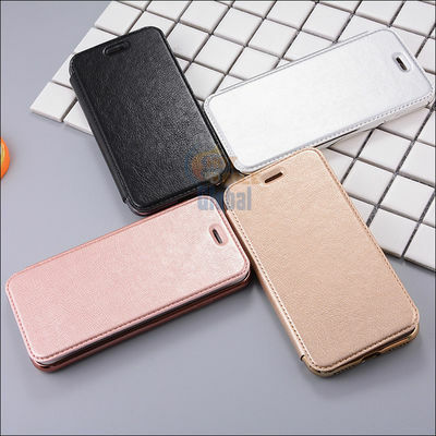PU Leather Clear TPU Back Flip Wallet Card Case Cover for iPhone 8 Plus + / 8