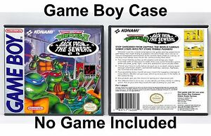Teenage-Mutant-Ninja-Turtles-II-Back-from-the-Sewers-Game-Boy-GB-Case-NO-GAME