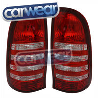 Toyota Hilux Vigo 05-11 Clear Red Tail Lights