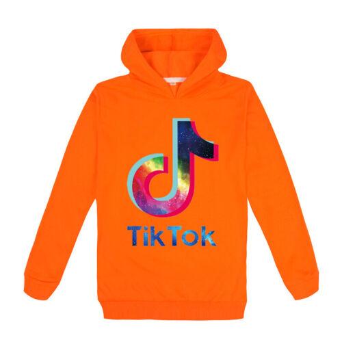 Kids Children Tik Tok Hoodies Jumper Tops Sport Tracksuit Boys Hooded Sweatshirt