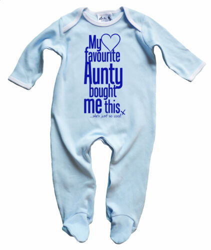 Dirty Fingers Baby Boy Sleep suit Gift My Favourite Aunty bought Me this""