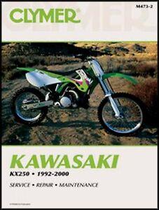 clymer service repair manual kawasaki kx250 1992 2000 kx 250 93 94 rh ebay com 1992 KX250 1992 KX250
