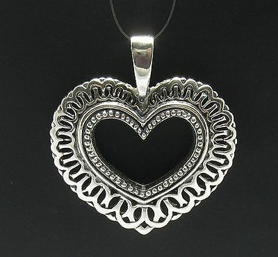 STERLING SILVER PENDANT HEART BIG QUALITY 925 NEW PE000101 SOLID EMPRESS