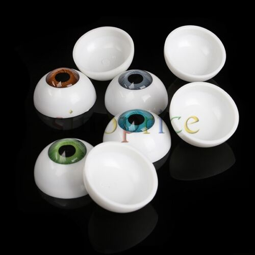 8pcs 26mm Half Round Eyeball Eyes for DIY Craft Doll Bear Dollhouse Decor