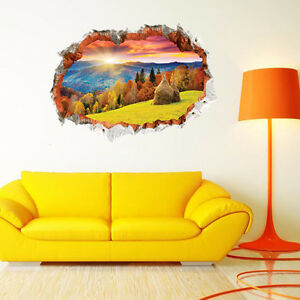 wandtattoo wandsticker kinderzimmer panorama ausblick landschaft natur 3d neu ebay. Black Bedroom Furniture Sets. Home Design Ideas