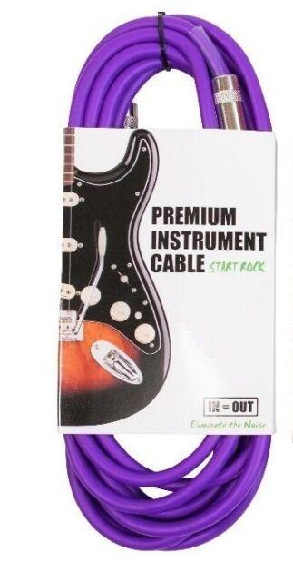 Guitar Cable 8 M Straight Jack Amp Bass Electric Acoustic Instrument Purple PVC