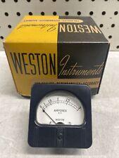 New Vintage Weston Model 507 Dc Amperes Panel Meter 0 3a Cool Maker Nos Nib