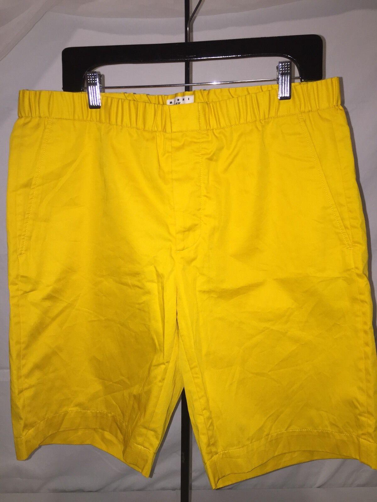 MARNI Yellow Walking SHORTS 38R BNWOT