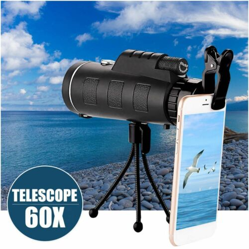 Compass Mobile Phone Telescope 40X60 Zoom Monocular Telescope Adjustable Focus
