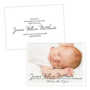 Personalised-baby-announcements-SIMPLE-ELEGANT-THANK-YOU-FREE-ENVELOPES-amp-DRAFT
